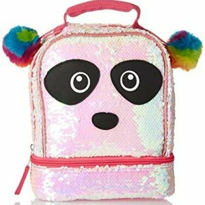 Other - Sequin 2 Way Panda Lunch Box